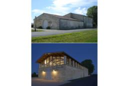 touton architectes - La Commanderie - chais - façade avant/après