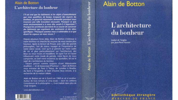 L'architecture du bonheur - de Botton