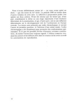 Ulrich Conrads - Programmes et manifestes de l'architecture du XXème siècle