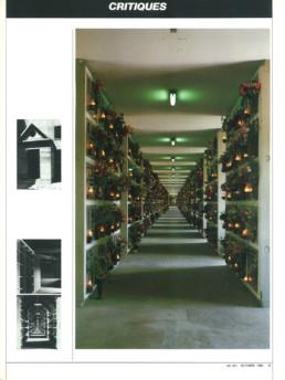 Didier Laroque sur Aldo Rossi - cimetière - Modène - Italie
