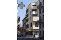touton architectes - cursol - vue angle depuis la rue - programme mixte - bureaux - logements
