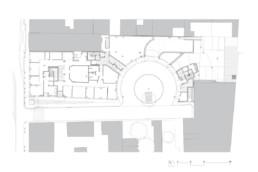 touton architectes - plan rdc - cursol - façade motif - programme mixte - bureaux - logements