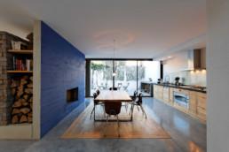 touton architectes - Danton - maison - perspective cuisine - cheminée - ancien atelier