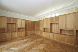 touton architectes - Domaine des Syrtes - rénovation propriété - boiseries - mobilier