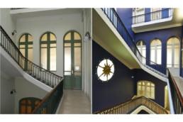 touton architectes - fenwick - rénovation - cage d'escalier avant/après - premier consulat des jeunes E.U.