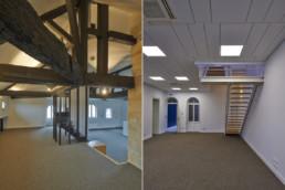 touton architectes - fenwick - rénovation - bureaux - charpente bois - premier consulat des jeunes E.U.