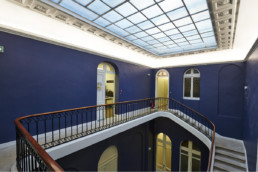 touton architectes - fenwick - rénovation - cage d'escalier - brique de verre - premier consulat des jeunes E.U.