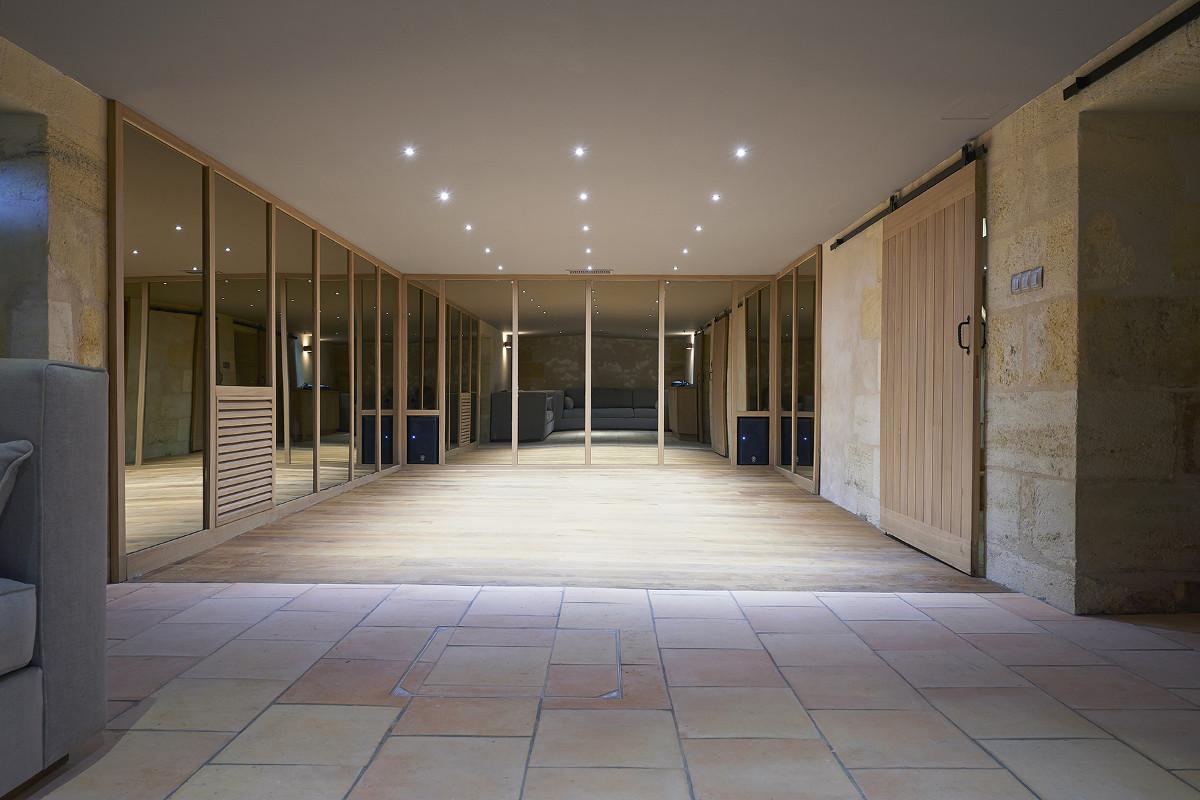 touton architectes - invictus - cave souterraine - salon - reflets