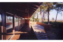 touton architectes - Villa Lagune - bois - perspective terrasse