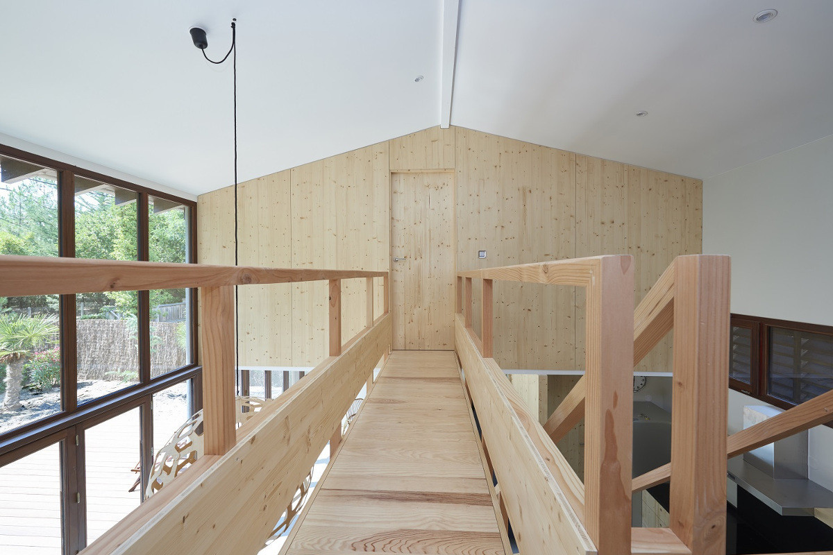 touton architectes - Lugue - villa - coursive bois