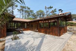 touton architectes - Macreuses - villa - Cap Ferret - terrasse bois - bardage bois - menuiseries bois