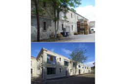touton architectes - Mähler-Besse - négoce - façade avant/après