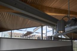touton architectes - Pabus - chais - cuvier partie haute - détail luminaire