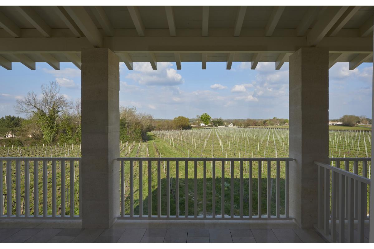 touton architectes - Pabus - terrasse cuisine - vue sur vignoble