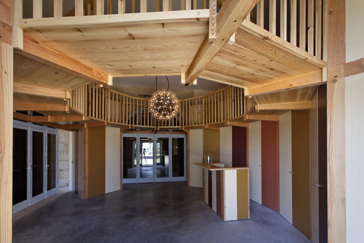 touton architectes - Château Paveil - patrimoine - viticole - hall