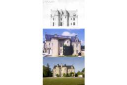 touton architectes - Petit Verdus - patrimoine - restauration château - évolution de la façade au cours du temps