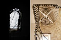touton architectes - Petit Verdus - patrimoine - restauration château - escalier avant/après