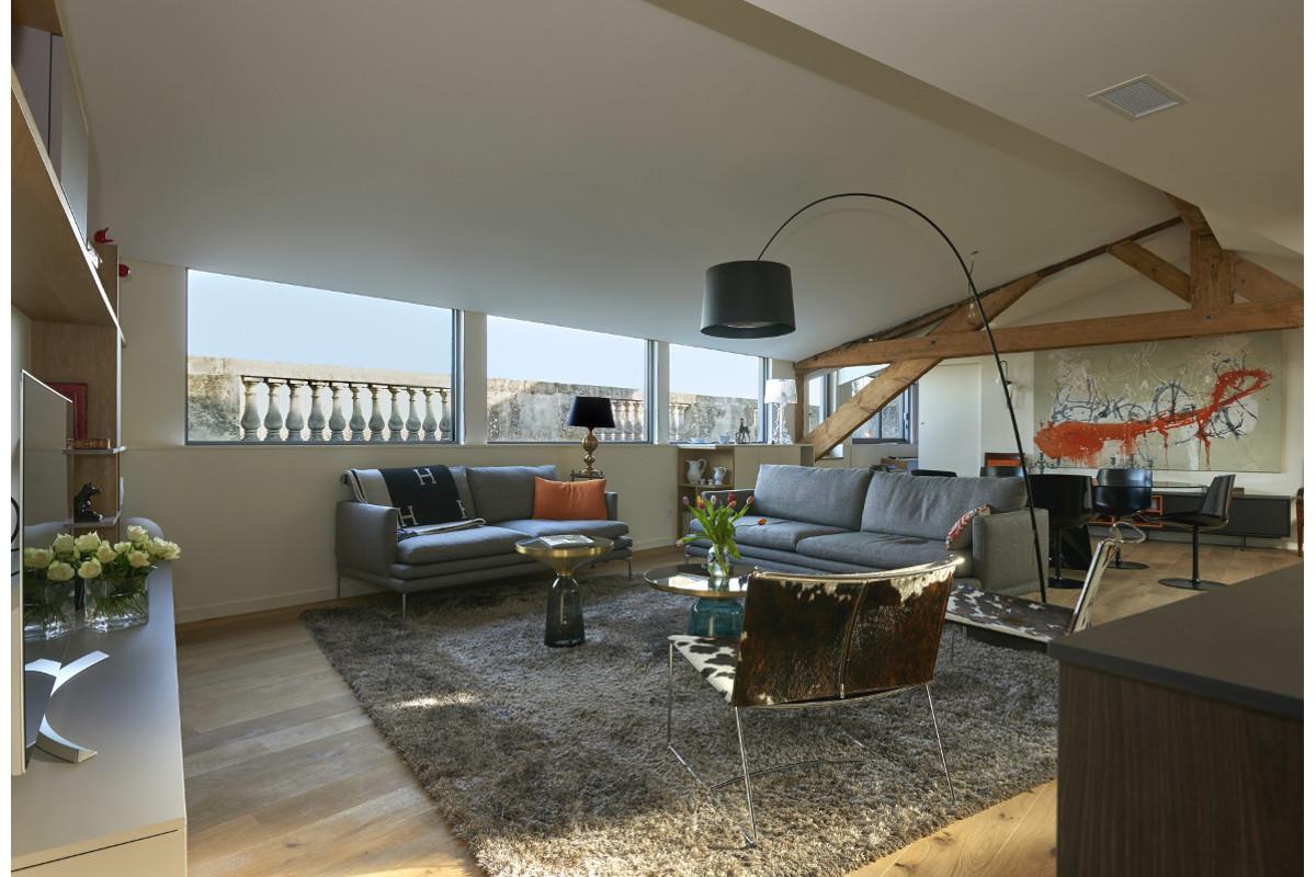touton architectes - Quinconces - rénovation appartement - séjour