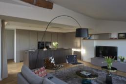 touton architectes - Quinconces - rénovation appartement - séjour cuisine