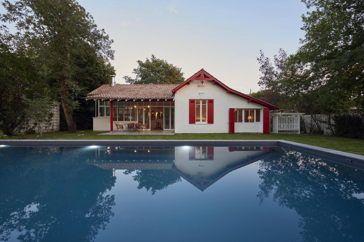 touton architectes - Saint-Henri - rénovation maison - façade jardin piscine