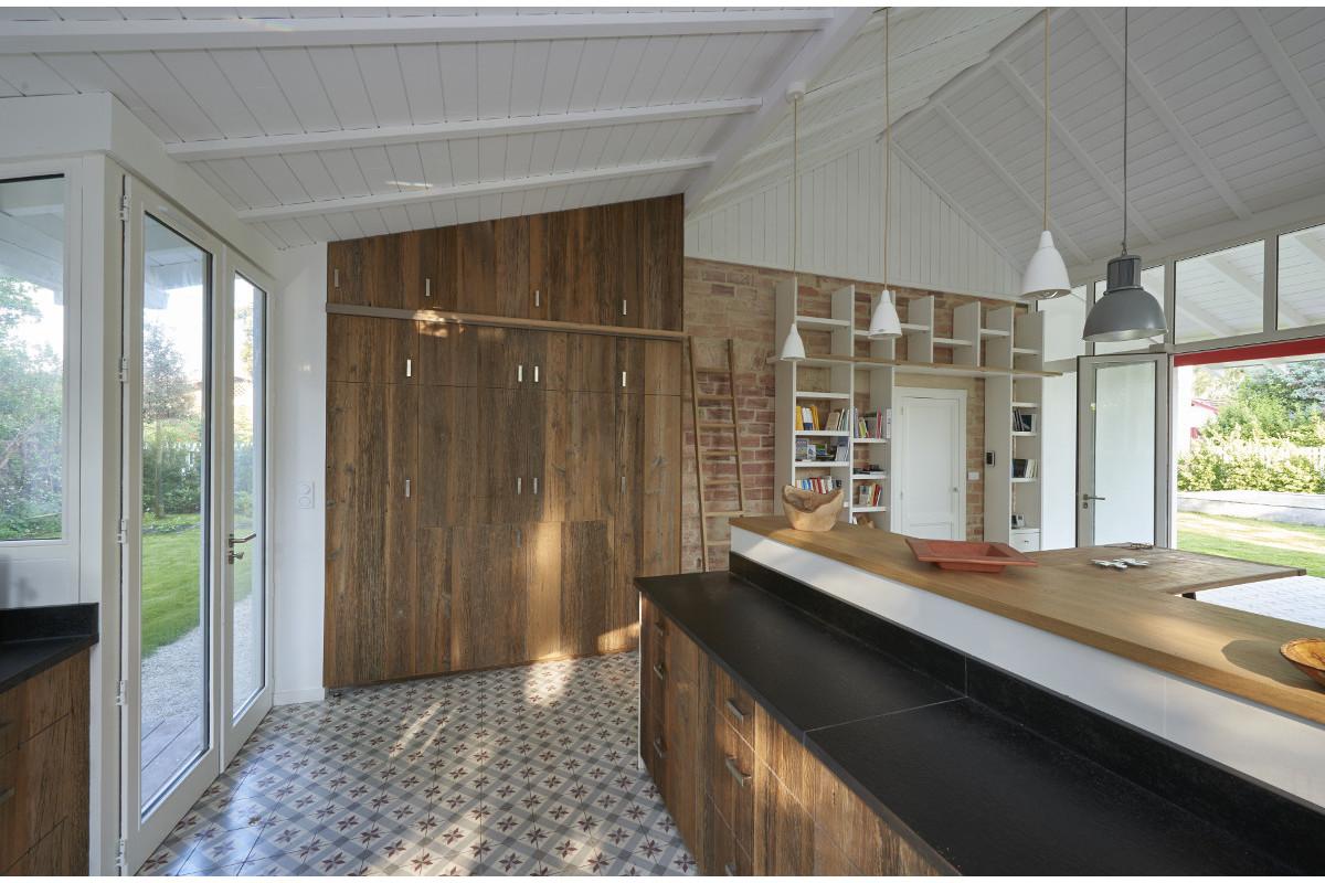 touton architectes - Saint-Henri - rénovation maison - cuisine - carreaux de ciment