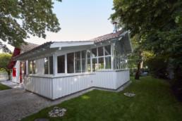 touton architectes - Saint-Henri - rénovation maison - vue depuis l'arrière du jardin