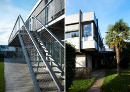 touton architectes - touton sa - bureaux - structure métallique - escalier - angle