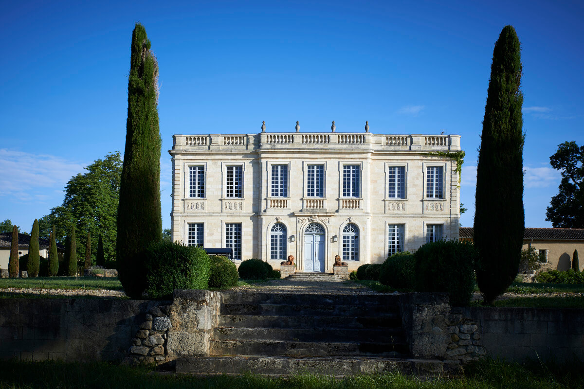 touton architectes - birot - patrimoine - façade jardin escalier