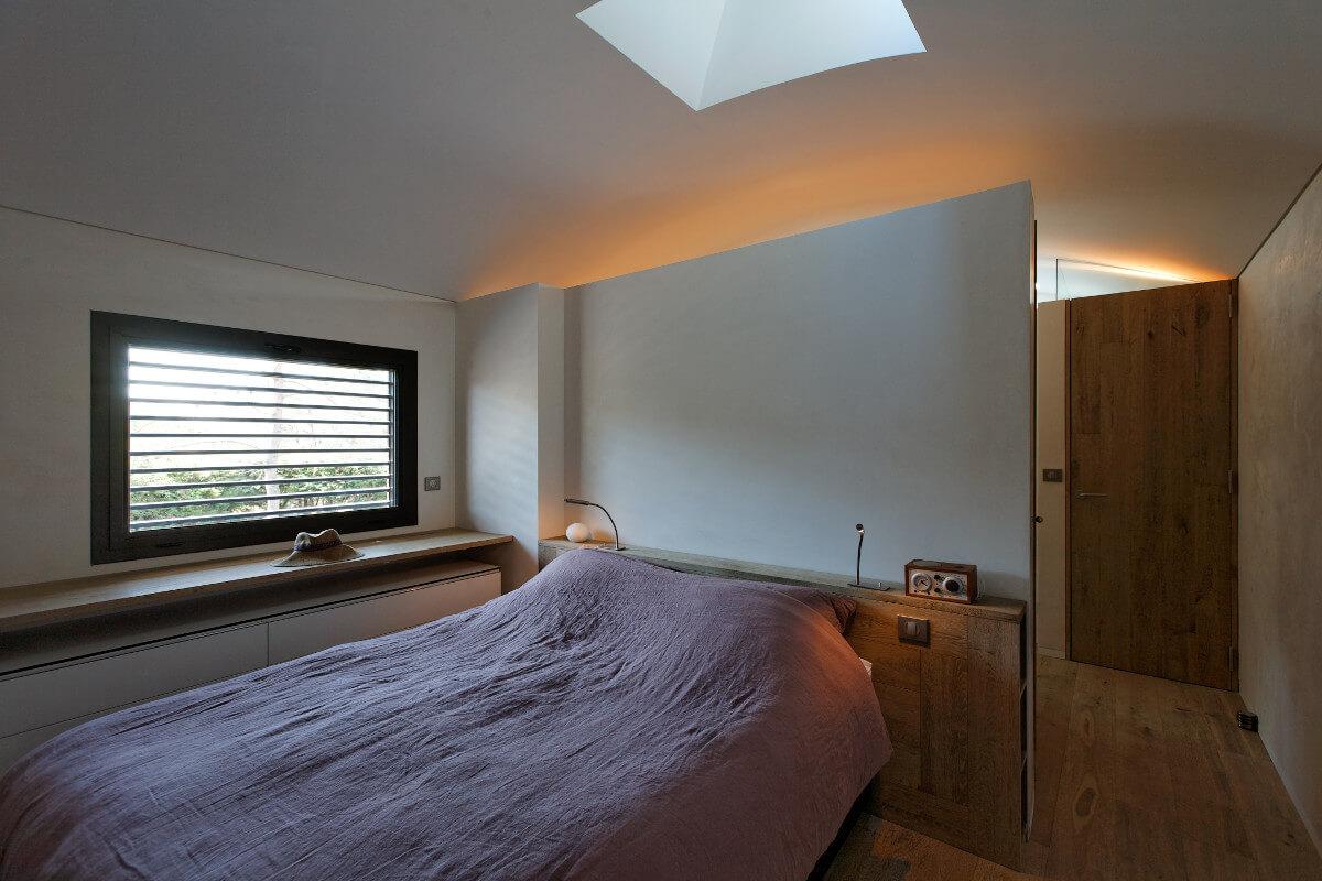 touton architectes - chambre cap ferret - vue depuis l'angle de la chambre