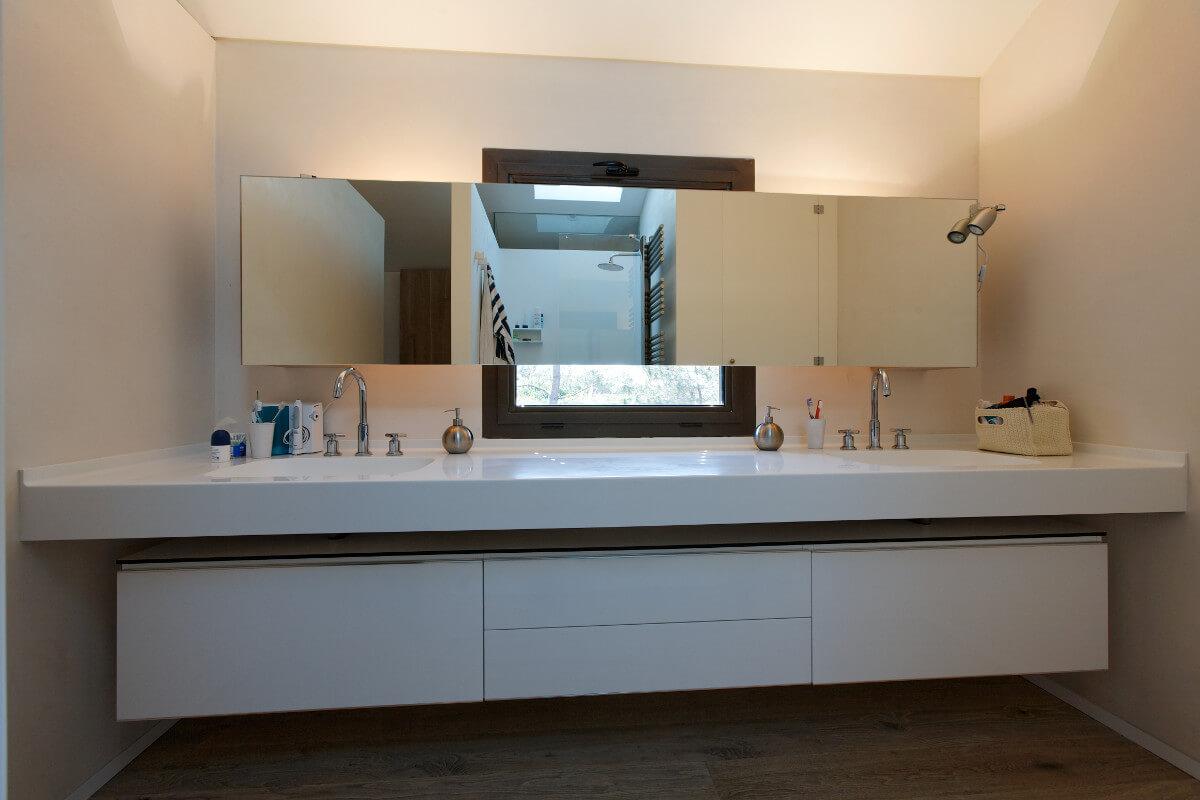 touton architectes - chambre cap ferret - salle de bains