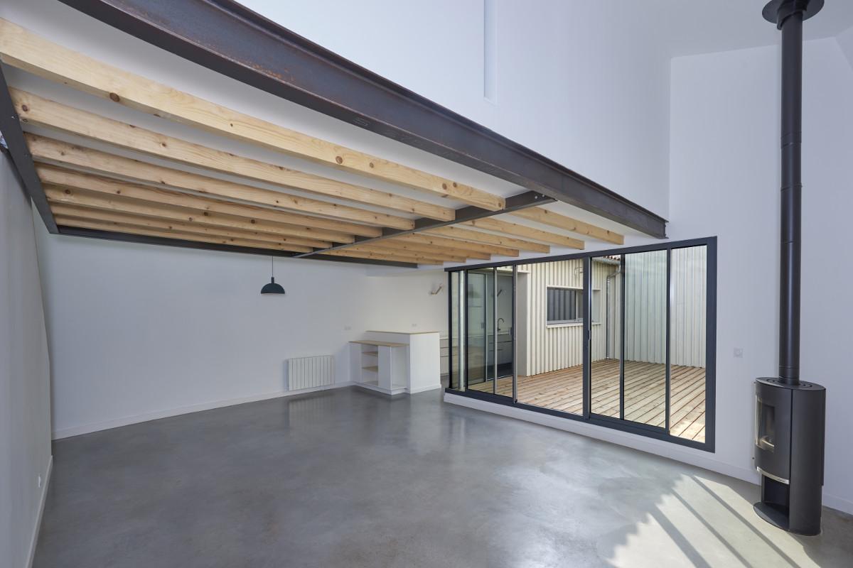 touton architectes - chartrons - logement collectif - petit duplex - séjour et cuisine