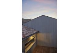 touton architectes - chartrons - logement collectif - petit duplex - vue terrasse depuis l'étage