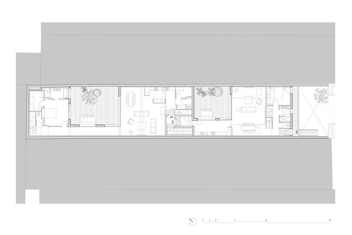 touton architectes - chartrons - logement collectif - plan