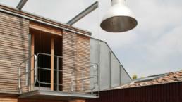 touton architectes - maison bordeaux - terrasse bois - mobilier bois