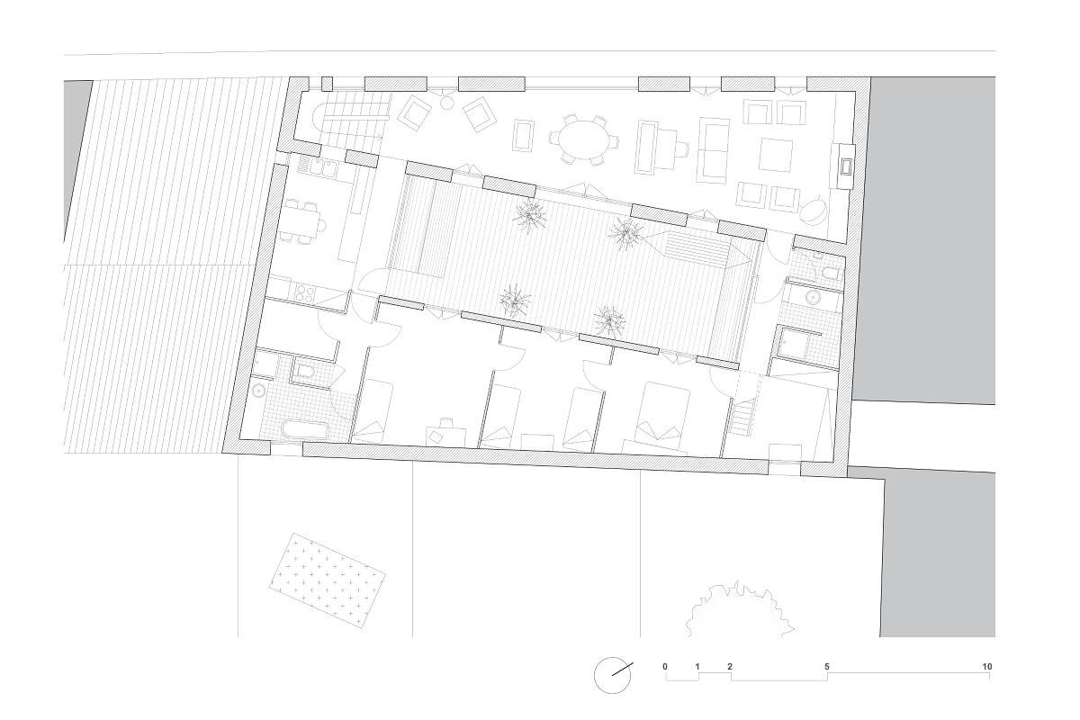 touton architectes - maison - bordeaux - plan étage