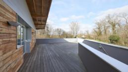 touton architectes - castelnau - maison médicale - terrasse étage