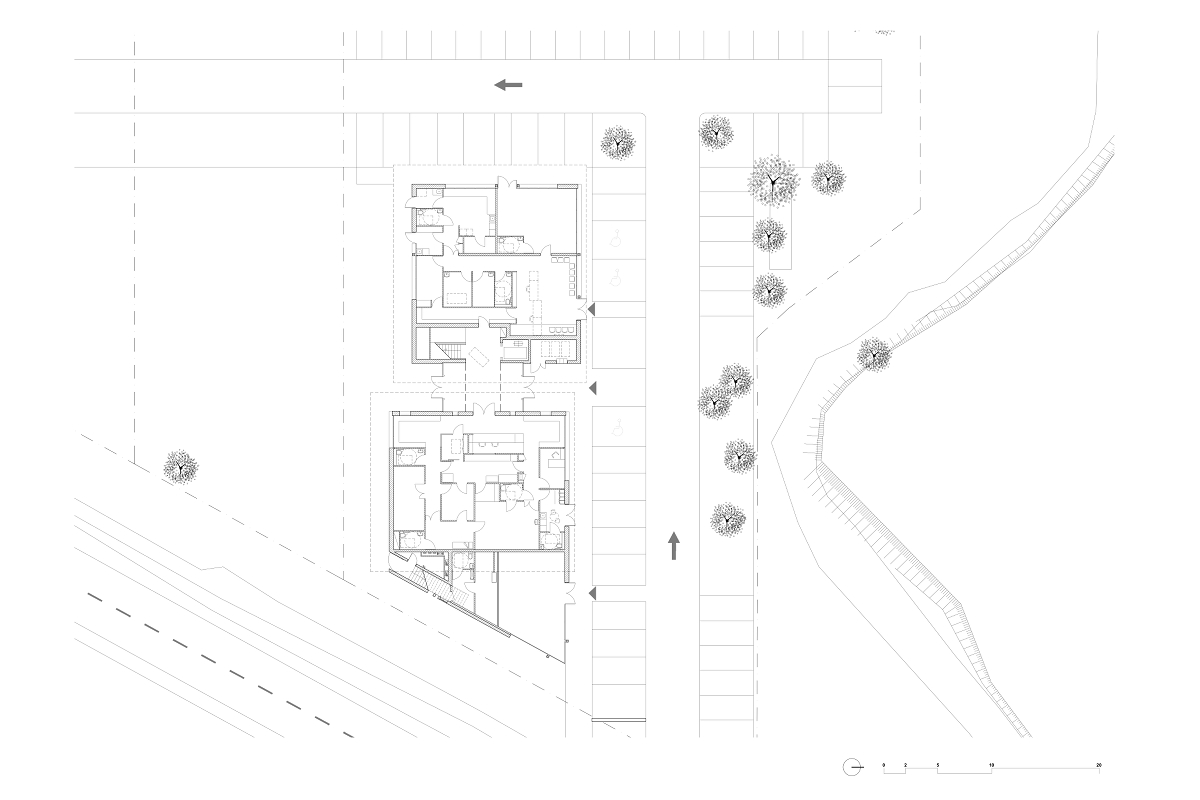 touton architectes - castelnau - maison médicale - plan