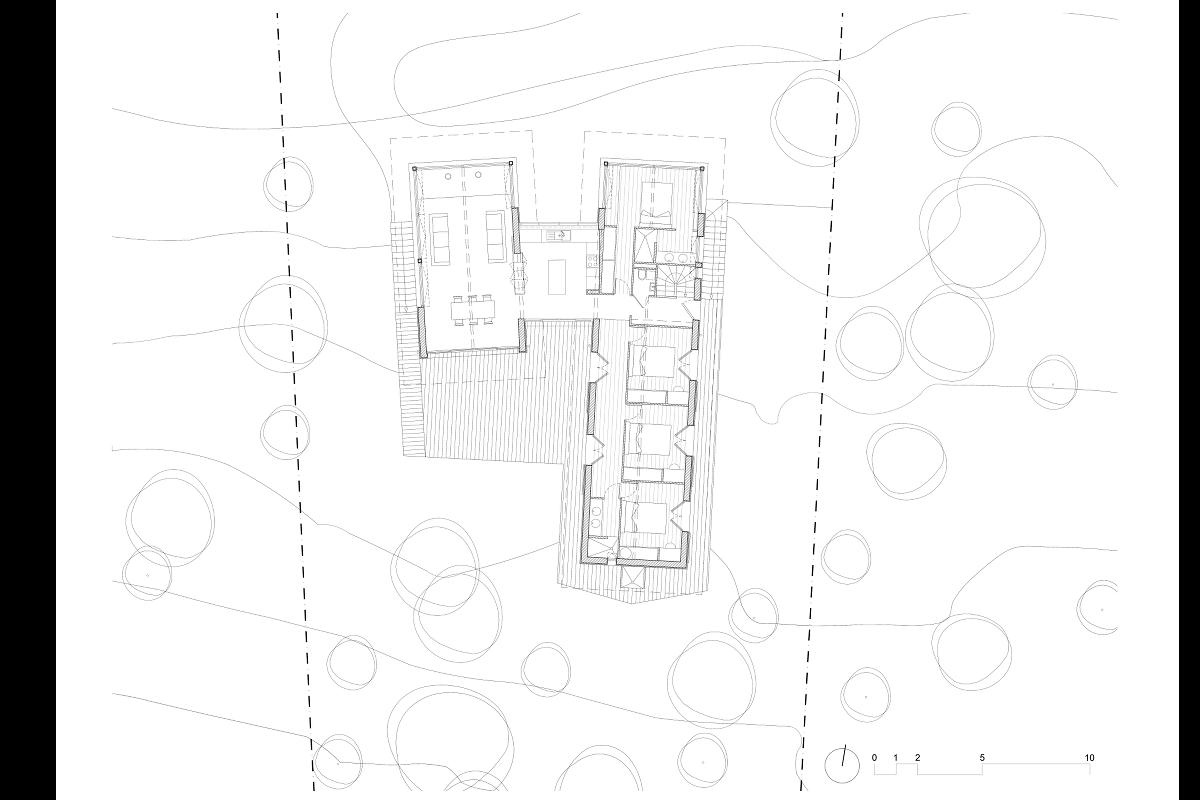 touton architectes - villa cap ferret - cabane moderne - plan