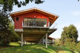 touton architectes - bureaux croisière - perspective - bureaux sur pilotis - transparence - balcon - coursive