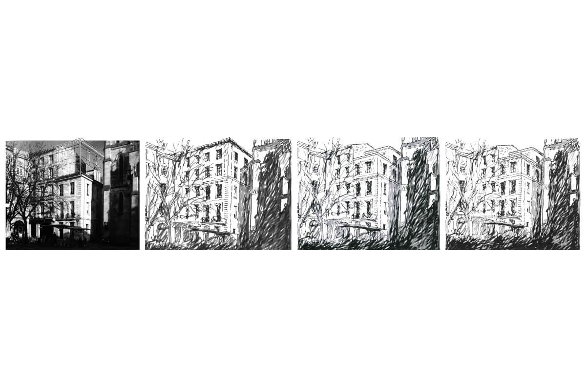 touton architectes - surélévation - patrimoine - immeuble - pierre - logement collectif - place saint pierre- bordeaux