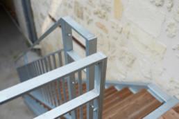 touton architectes - escalier extérieur - chartrons - bordeaux