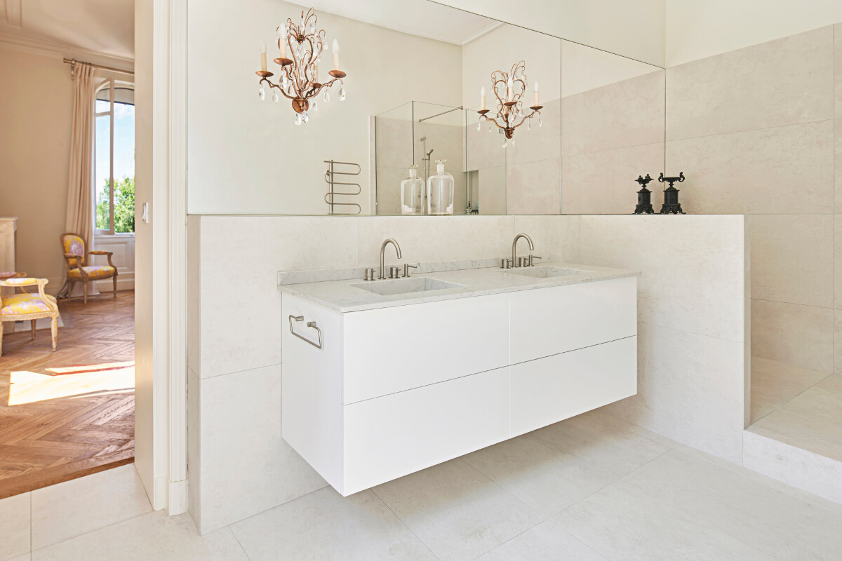 touton architectes - patrimoine - picoron - salle de bain - sur mesure