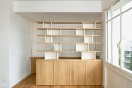 touton architectes - sylves - bordeaux - rénovation - sur mesure - appartement - mobilier
